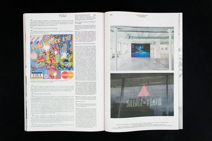 Mousse Magazine #53 ~ #richardhawkins #andrewdurbin #conversation #art #contemporaryart #magazine #moussemagazine