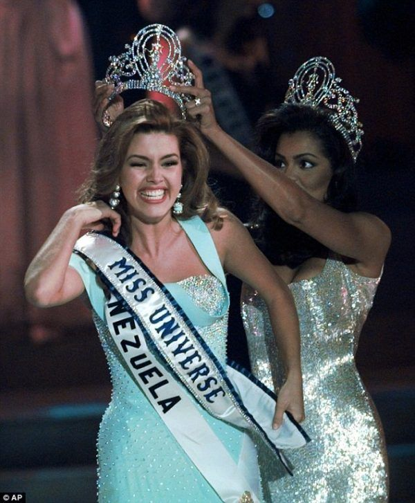 "For years, PETA (People for the Ethical Treatment of Animals) has run campaign titled, ""I'd Rather Go Naked Than Wear Fur."" Former Miss Universe, Alicia Machado, has recently supported this campaign by posing naked. Read more at ThePageantPlanet.com"
