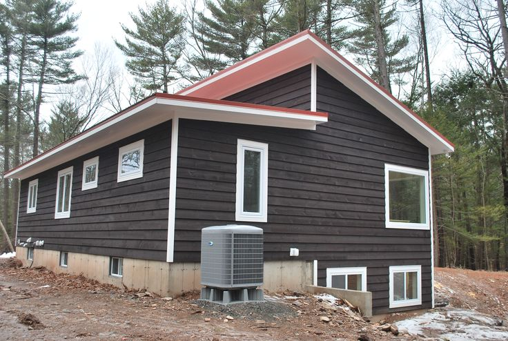 Stained House Siding : Cordovan brown solid stain siding catskillfarms our