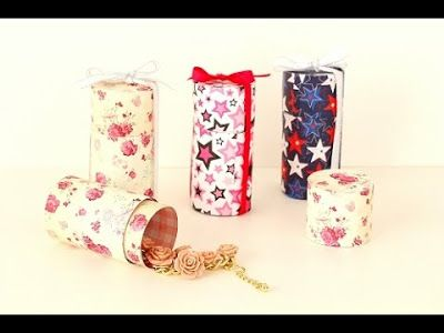 Faça caixas para lembrancinhas com rolos de papel ~ Decoração - LowCost