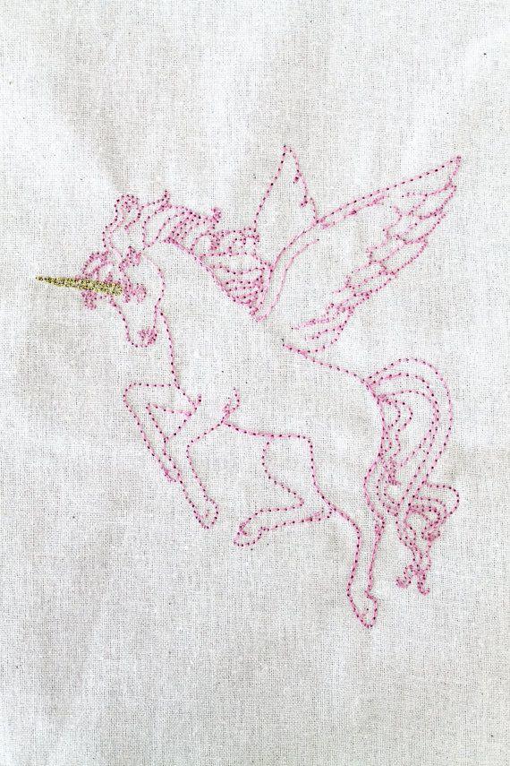 Machine embroidery unicorn pegasus file