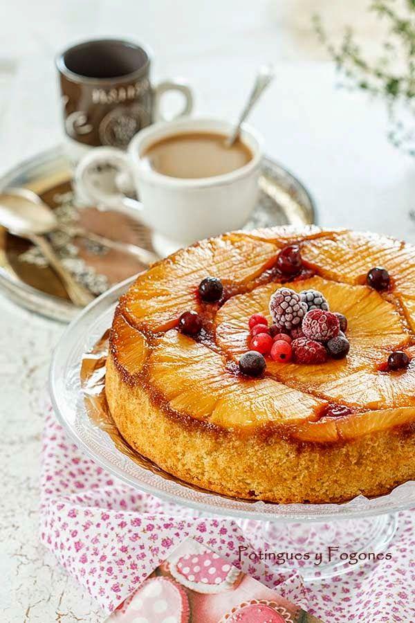 POTINGUES Y FOGONES: Pineapple upside down cake
