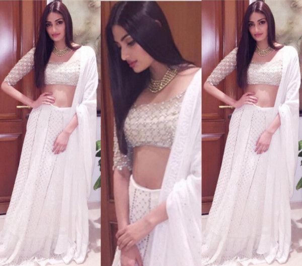 athiya shetty white lehenga - Google Search