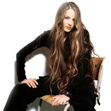 Ruslana Korshunova, her hair is fabulousssss!! long hair is amazing<3