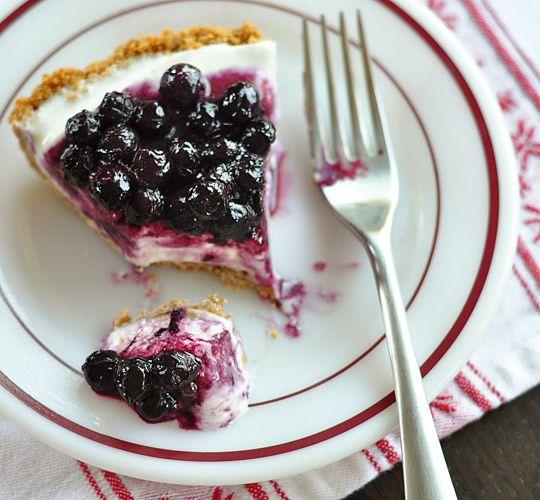 Blueberry cheesecake ice cream pie