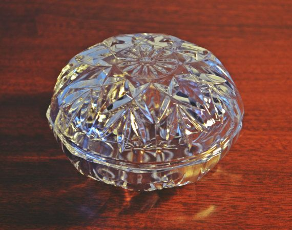 Vintage Cut Crystal Candy Dish Crystal Trinket by Collectitorium
