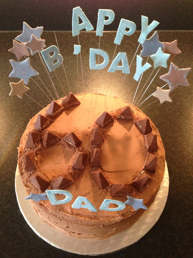 Toblerone themed cake made for my Father-in-laws 60th B'day complete with yummy Toblerone flavoured butter icing...(photographed before I replaced the broken H lol)..