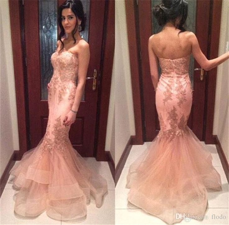 2017 Sexy Mermaid Formal Evening Gowns Sweetheart Ruffled Tulle Backless Prom Party Dresses Sweep Train Runway Red Carpet Dress Evening Dress Shop Evening Dresses China From Flodo, $102.89| Dhgate.Com