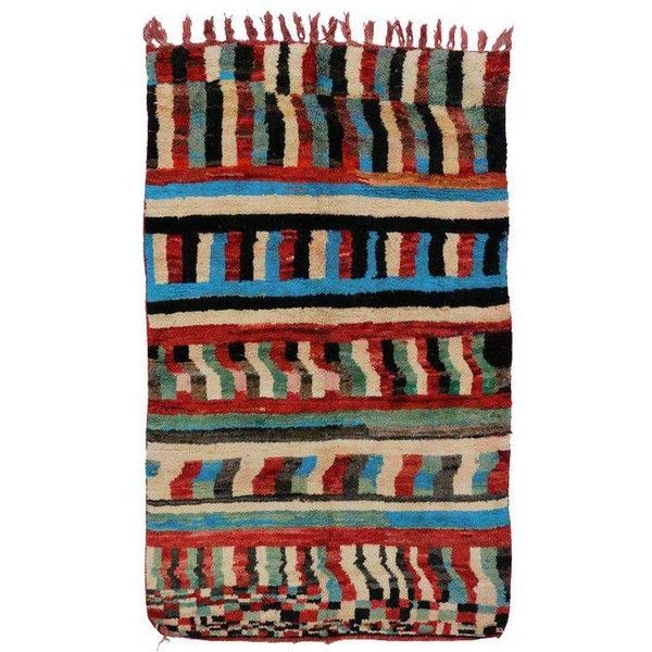 2c0b4b800fc Boho Chic Vintage Berber Moroccan Rug with Contemporary Abstract... (3 025  AUD) ❤ liked on Polyvore featuring home