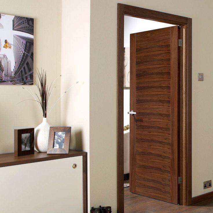 Bespoke Aragon Walnut Fire Rated Door - Prefinished.    #walnutdoor #firebespokedoor #bespokedoor #madetoorderdoor #internaldoor #modernonteriordoor #unusualsizedoor
