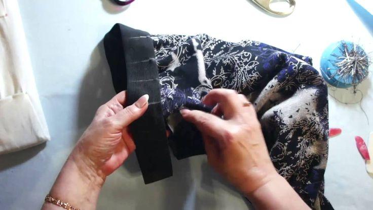 Как пришить резинку по талии