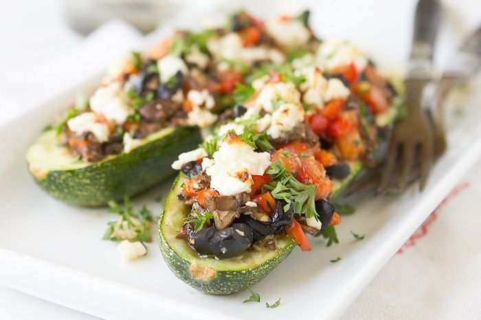 On the grill or in the oven, these mushroom zucchini boats are easy, versatile and full of feisty, vibrant summertime flavors and are ready in less than 20 min.