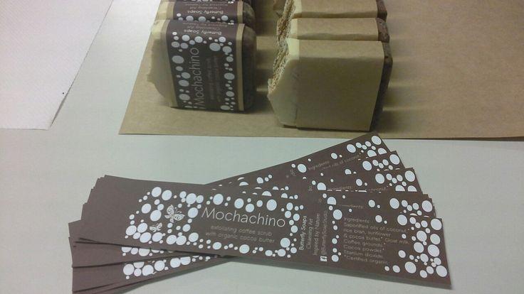Mochachino Scrubby natural soap.  #organicsoap #goatmilksoap #handmade #naturalsoap #organiccocoabutter #organiccoffee #cleansingart #butterflysoapstudio
