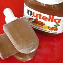 1 cup of milk + 1/2 cup Nutella = Fudge Pops :)
