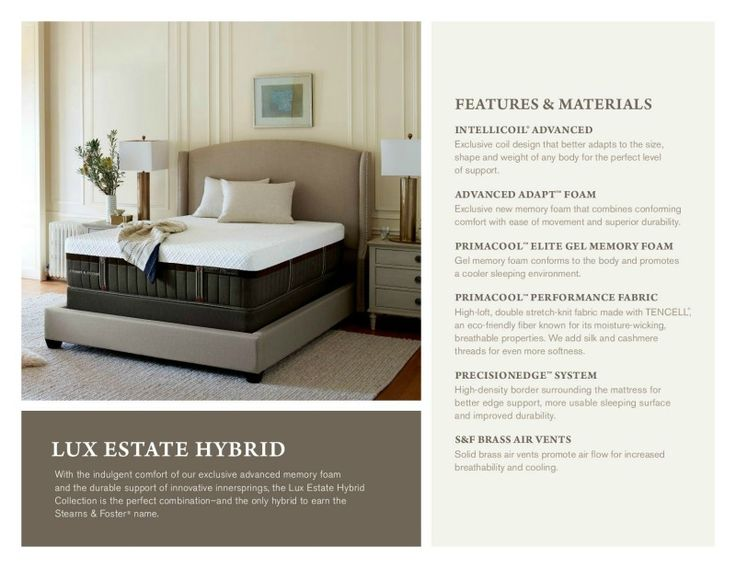 stearns u0026 foster luxury estate hybrid collection