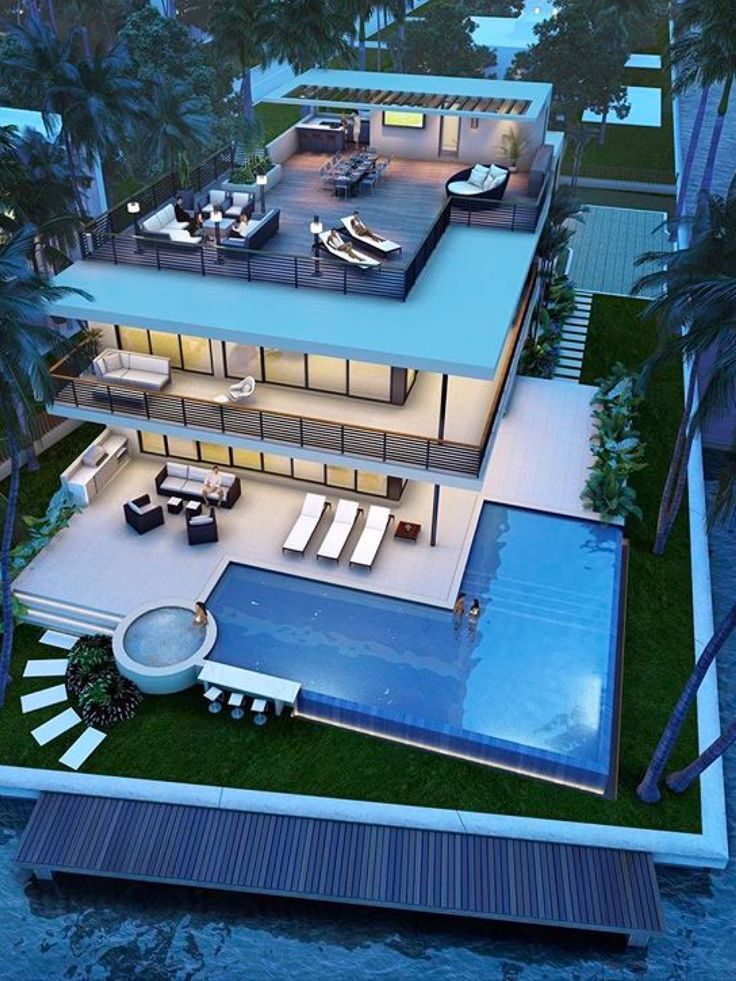 The areal shot of this property is breathtaking. What a beautiful home. Love the luxurious rooftop space. Luxury living.