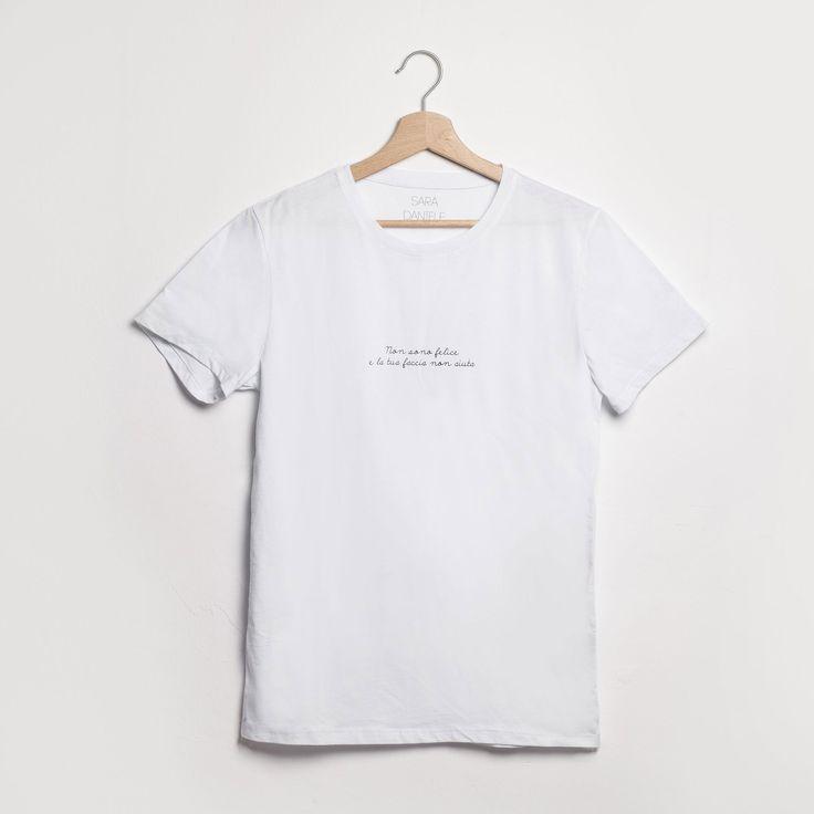 T-shirt SARADANIELE | Non sono felice e la tua faccia non aiuta, taglia M // 35€