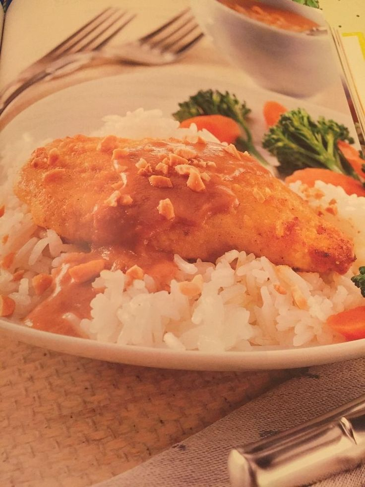 thai chicken with spicy peanut sauce recipe