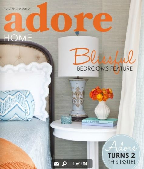 Home Interior Magazines Online apartment Adore Home Magazine October 2012 Issue Cover Feature Starting On Page