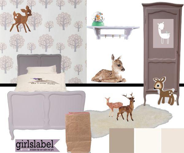 Hertjes Kinderkamer, kinderkamer bambi, kinderkamer met hertjes ...