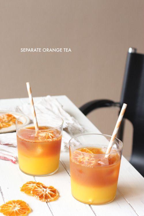 separate  orange  tea