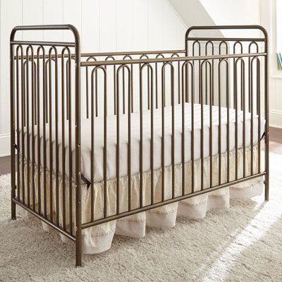 L.A. Baby Trinity Metal 3-in-1 Convertible Crib Finish: Golden Nugget