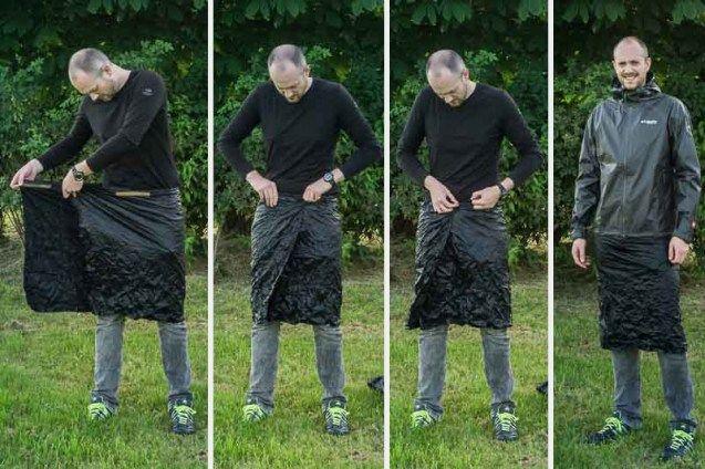 Regenkilt DIY Anziehen