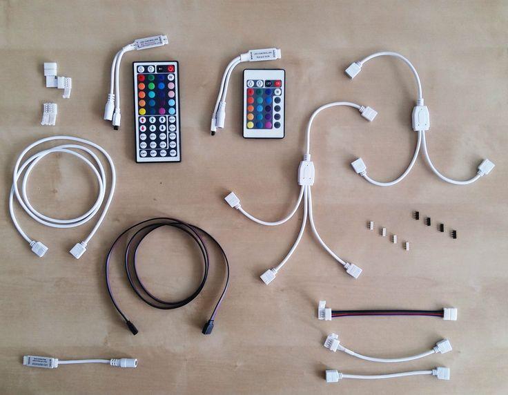 Alles für LED-Streifen, Verbinder, Verteiler, Fernbedienung, Verlängerungskabel