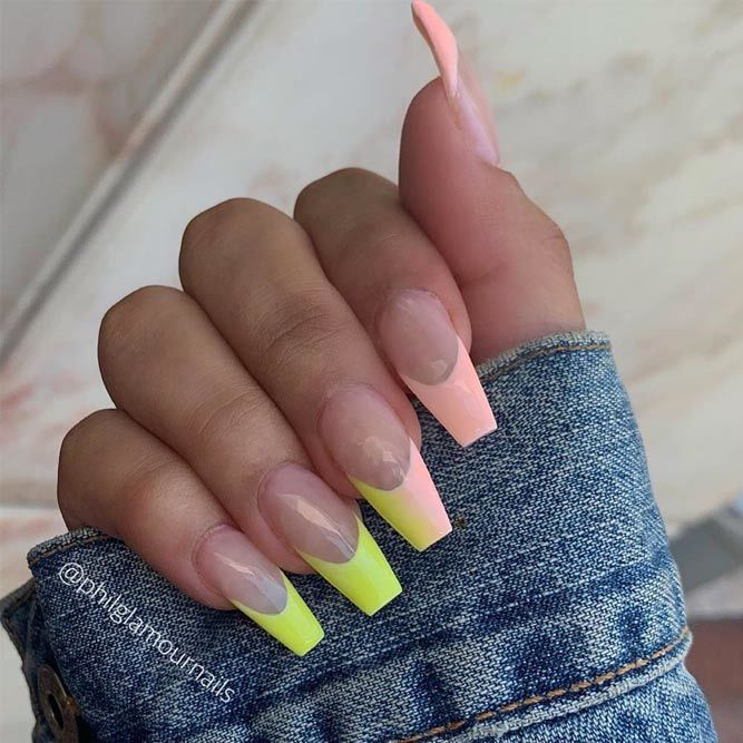 Coffin Nails Ideas For Enchanting Look Naildesignsjournal Com Clear Acrylic Nails Nail Designs Nails