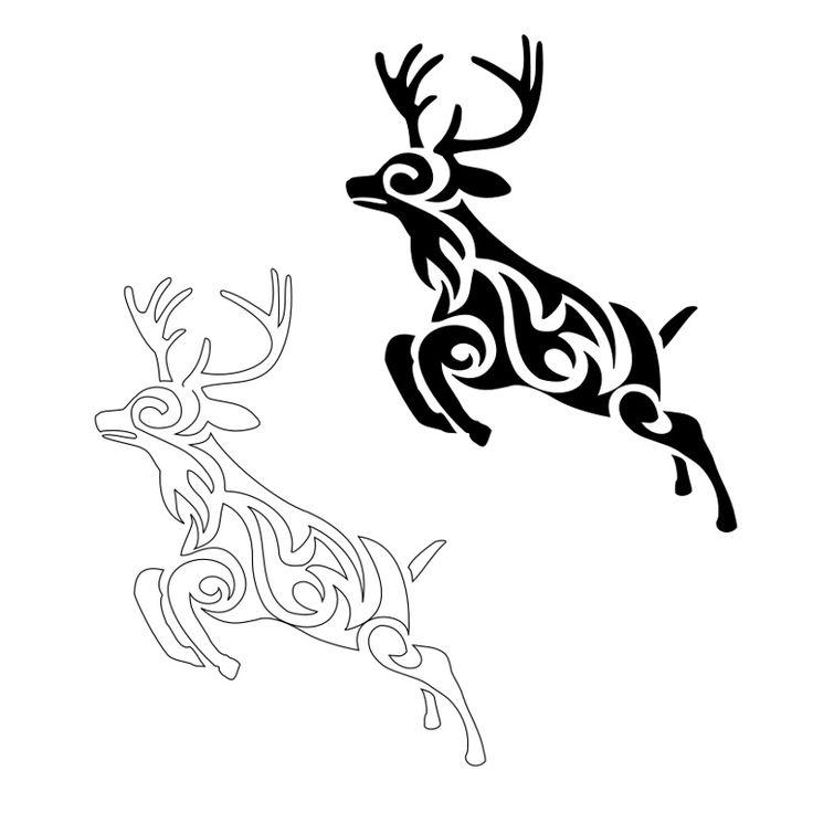 tribal deer tattoo | Tattoo and Piericings :) | Pinterest ...