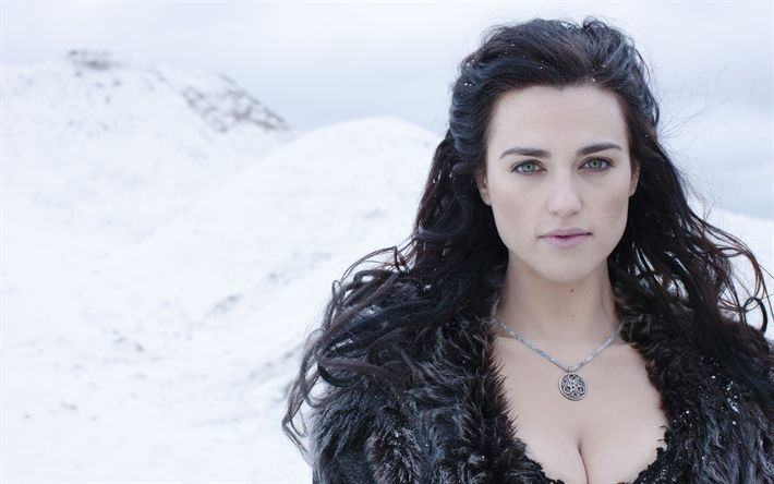 Download wallpapers Katie McGrath, Irish actress, fashion model, King Arthur, 2017, Legend of the Sword