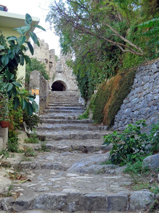 Stairs leading to #Akronafplia Castle from #Nafplio old town.