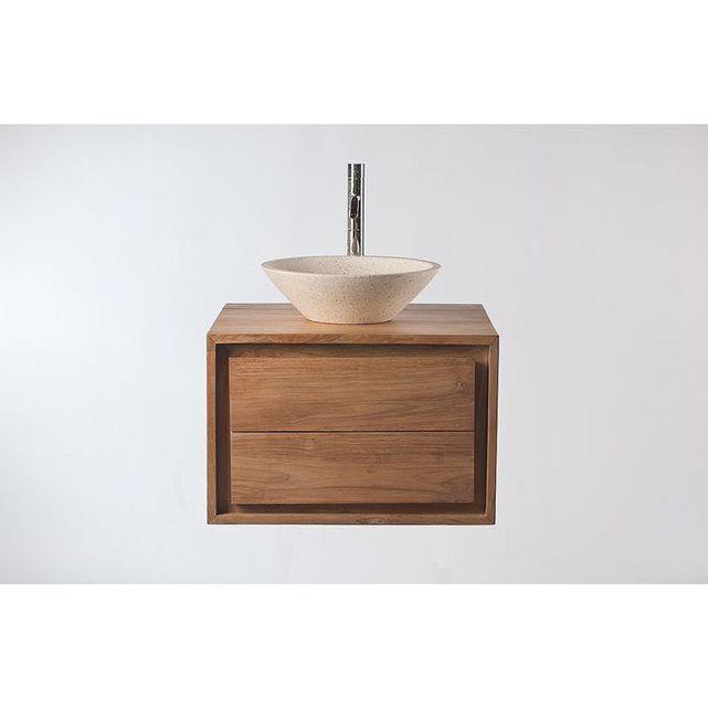 Meuble Salle de Bain: meuble sous vasque teck et Vasque terazzo PEKKA MILIBOO : prix, avis & notation, livraison. Tout ce qui est petit est mignon ! L'expression est très bien représentée par ce meuble de salle de bain PEKKA. En effet, avec des dimensions restreintes ( L60 x P50 x H40cm), ce meuble se veut parfait pour une petite salle de bain. Suspendu il vous permettra également de conserver de l'espace autour et en dessous. En teck, ce meuble de salle de bain possède un charme…