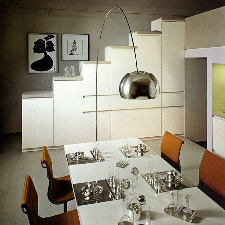 Arco lamp and Eames Aluminium Group Chairs