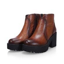 Бесплатная доставка полный зерна кожаные сапоги женщины лодыжки круглым носком на высоком каблуке мартин мотоцикл сапоги зимние ботинки туфли на платформе туфли на высоком каблуке()