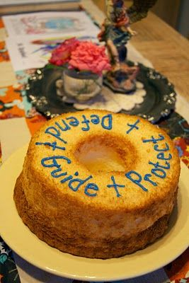 The Creamer Chronicles: Feast of the Archangels- Love this ANGEL food cake for Michaelmas. ;-)