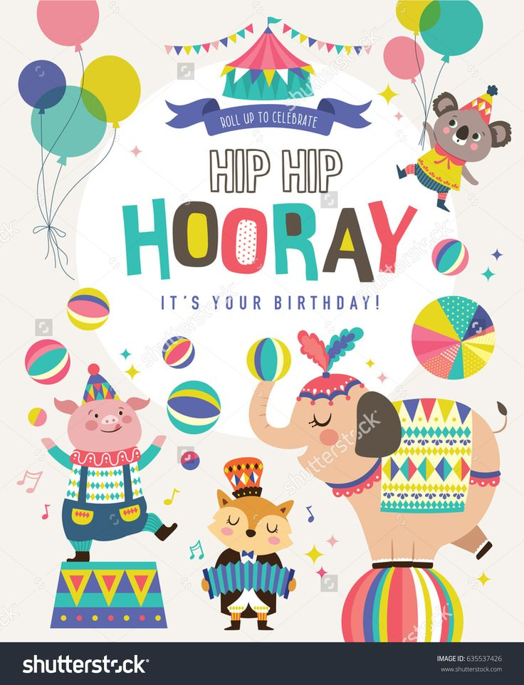 20 best Circus images on Pinterest Image vector, Parties kids and - best of invitation card vector art