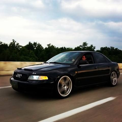 Hubby's B5 A4 Audi 1.8t Quattro with R8 reps.