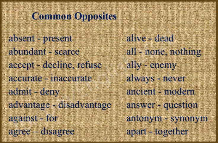 Opposites in the English Language