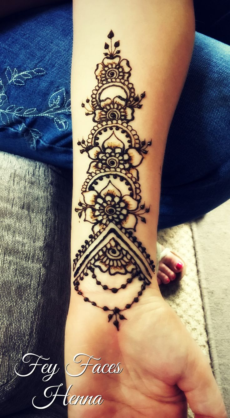 Inner arm henna design | henna tattoos | Henna, Henna ...