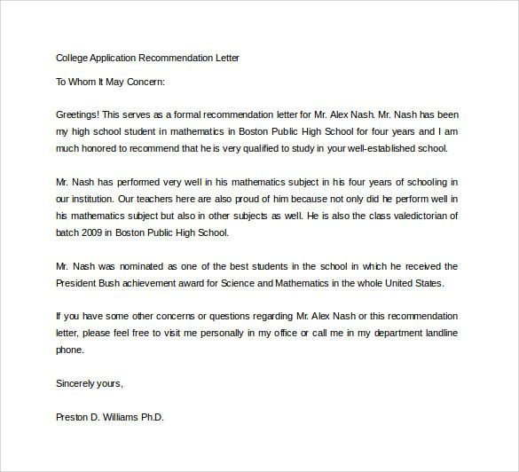 Pin By Markybeacy On Recommendation Letter College