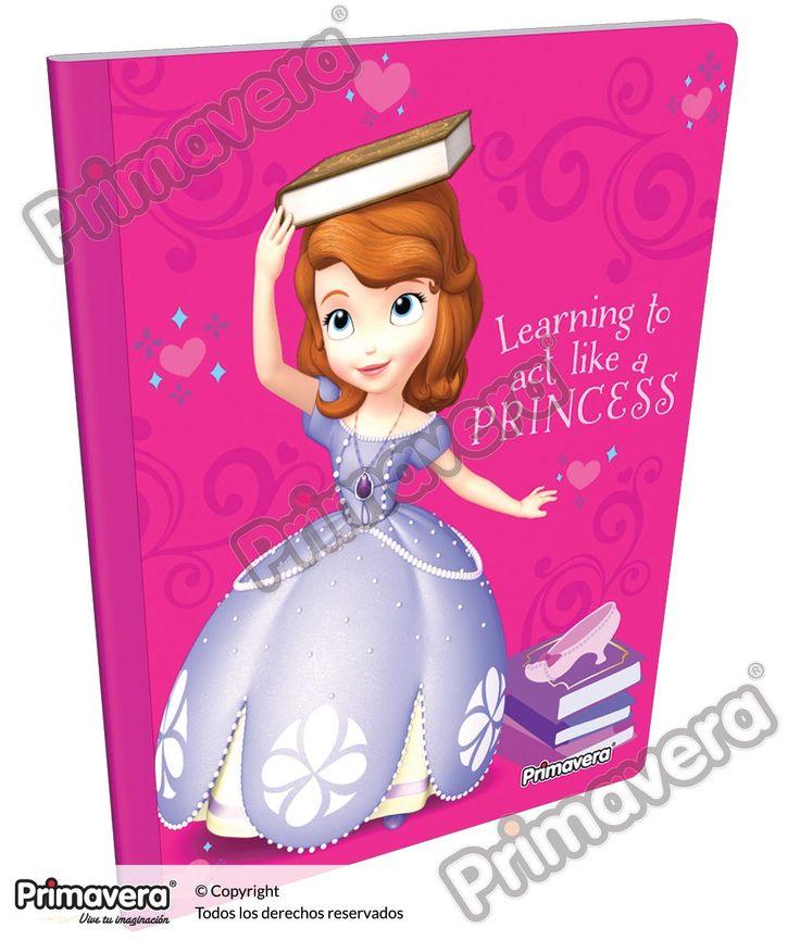 Cuaderno Cosido Infantil Princesita Sofía http://escolar.papelesprimavera.com/product/cuaderno-cosido-infantil-sofia-primavera-2/