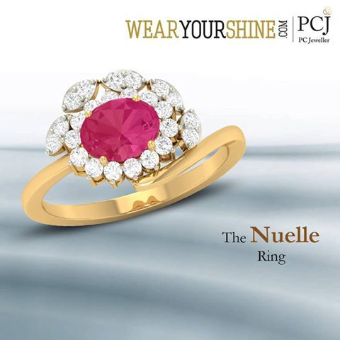 """Upgrade your style quotient with """"The Nuelle Ring"""" by WearYourShine. #New #Arrival #DiamondRing #Diamonds #Ring #WearYourShine #WYS #PCJeweller #Jewellery #India #Love #Fashion #Trends #Gold"""