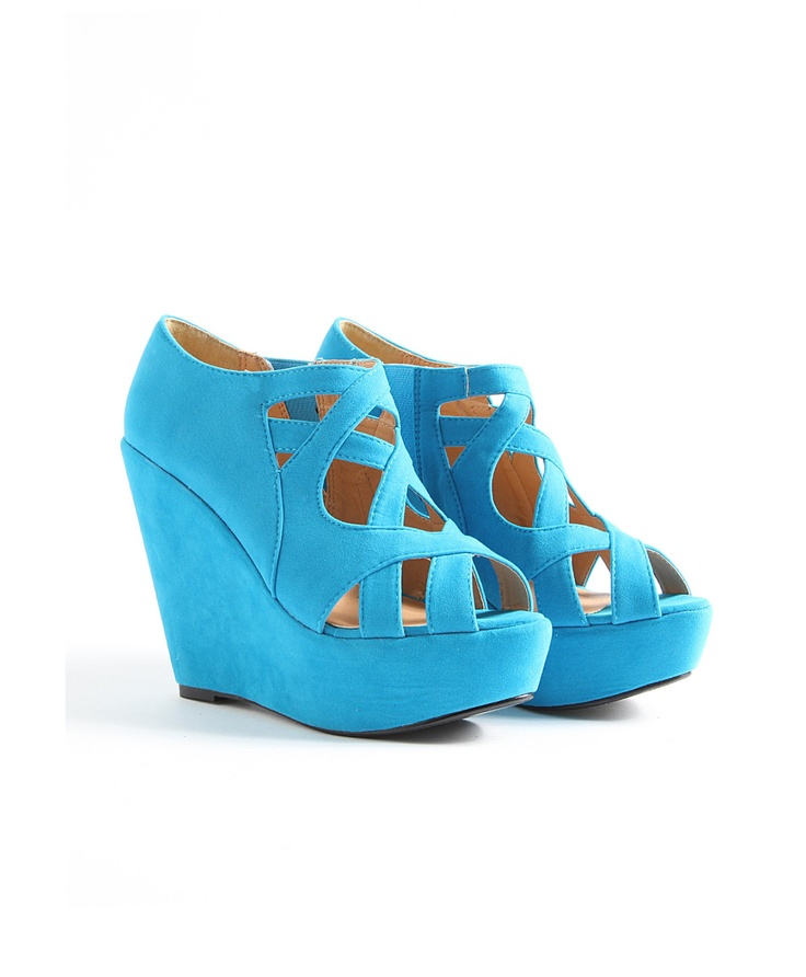 : Blue Wedges, High Wedges, Super High, C Style, Hailey Strappy, Blue Colors, Bright Wedges, Shoes Clothing Bags, Strappy Super