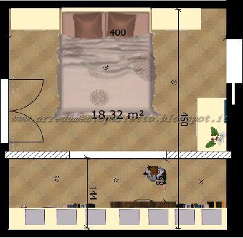 Planimetria camera da letto standard | La cabina armadio perfetta by ...