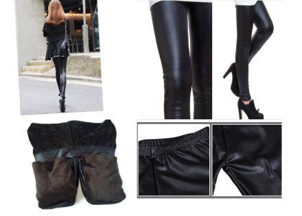 Bőr hatású bélelt leggings