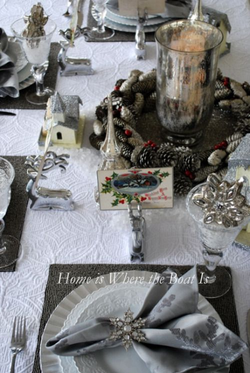 White Christmas Tablescape Tablescapes Table Settings