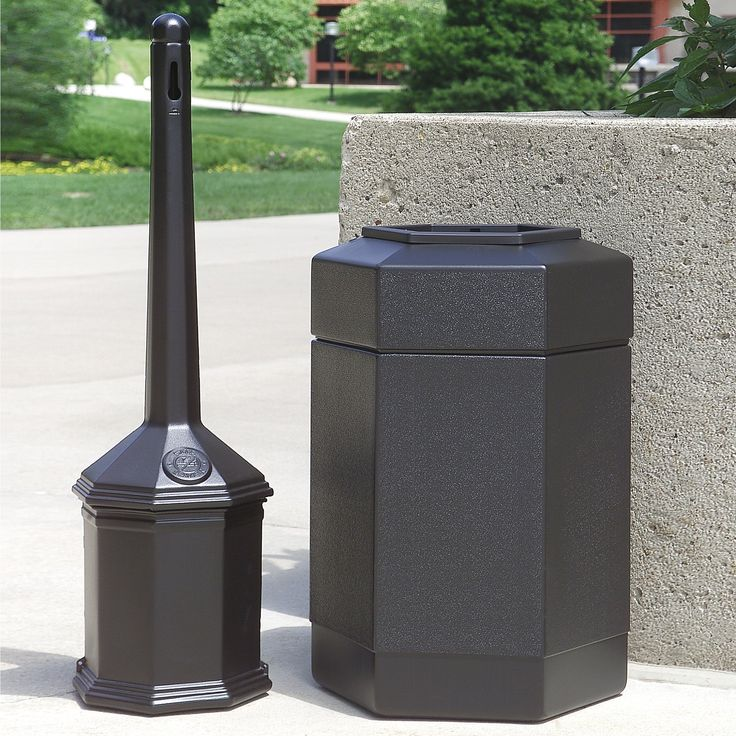 commercial zone site saver combo commercial trash can
