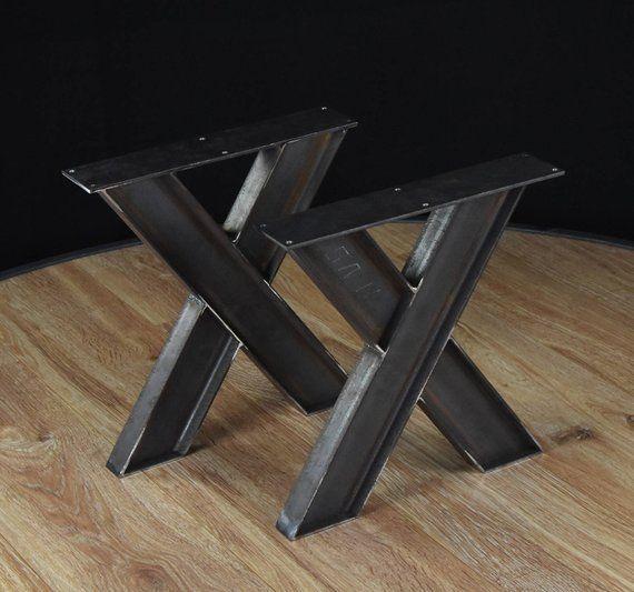 Coffee table pedestals, Coffee table base, Steel coffee table, v coffee table legs, Industrial Table Legs SET of 2