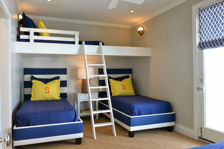 17 best ideas about triplets bedroom on pinterest shared rooms 3 kids bedroom and 3 bunk beds - Beautiful bunk bed teens ...